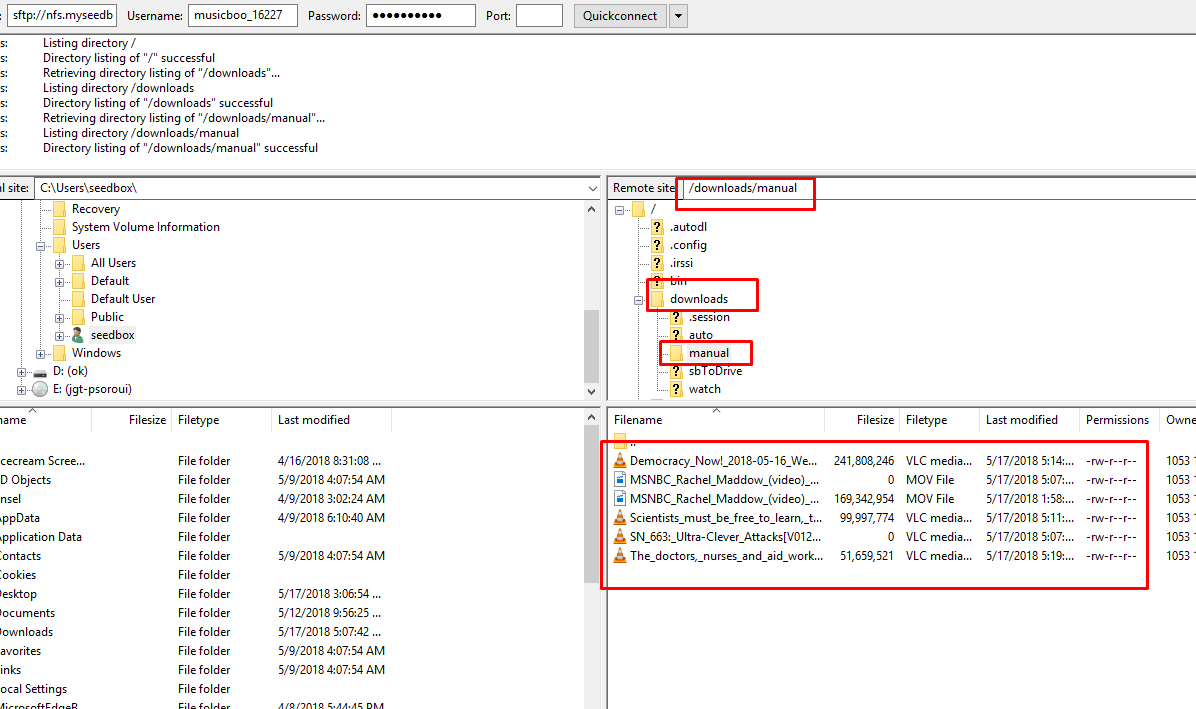 finding downlaoded content in your filezilla.png
